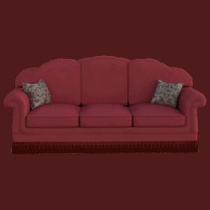 ספה בצבע בורדו